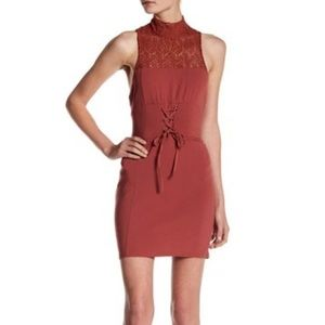 NWOT - Free People Bodycon Lace Front Corset Dress